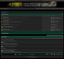 Dallas Stars Forum Skin by MetalFrog