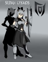 RWBY OC: Serah Lykaios The Silver Wolf (OLD) by DGsilv3r