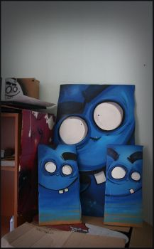 Blue, blue and big blue by szc