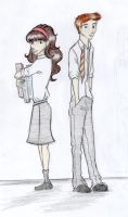 Hermione and Ron by Marissa-Emily