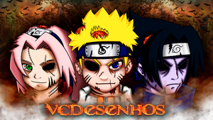 Wallpaper Naruto Halloween by vcdesenhos