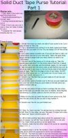 Duct Tape Purse Tutorial 1 by BlissfullySarcastic