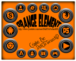 Icons Orange Element - Exclusive 2012 by DiiHnaNeT