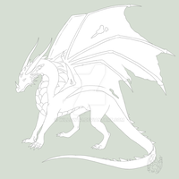 Dragon Lineart by Willow141