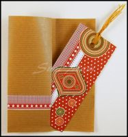 Bookmark - scrapbooking - abstract by SuniMam