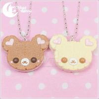 Cookie bear Necklace by CuteMoonbunny