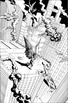 Hawkman Page 2 Inks by craigcermak