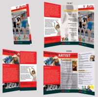 Brochure Trifold ARTS YMCA by dRoop