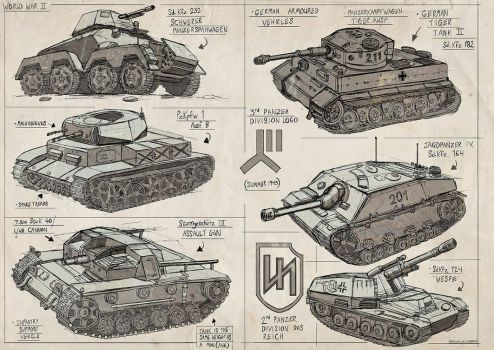 WW2 Tank Sketches by Magnum117