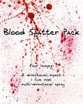 Blood Spatter Pack by Zeds-Stock