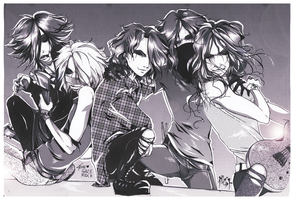 The Gazette - on the stage by KaZe-pOn