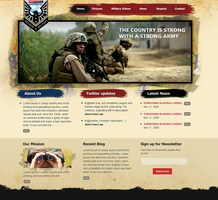 military website by prkdeviant