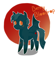 Pony Adoptable: Benny Bloodrop! by JellyBeanBullet