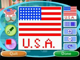 U.S.A. Pattern-Animal Crossing by Kalahari100