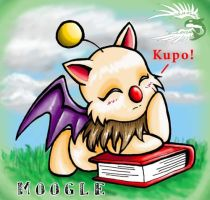 Resting Moogle by spatialchaos
