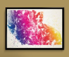 Gollum Watercolor Print by ColourInk