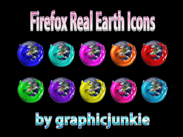Firefox Real Earth Icons by graphicjunkie