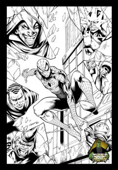 Spiderman and The Sinister Six by TheInkPages