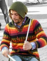 drummer on the mall - 1 by mudyfrog