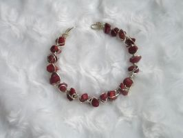Red coral bracelet by rosnicka17