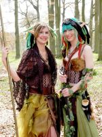 Wood Elves in the Forest by Tammiejjj