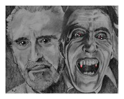 Christopher Lee tribute by nev777
