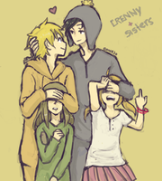 Crenny + sisters by Dakumes