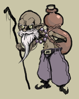 Paintchat - Grumpy Old Hermit by MarvelousCoconuts