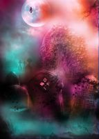 PREMADE BACKGROUND 4-SEPHORADREAM CEMETERY by L-A-Addams-Art