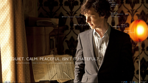 My current desktop - Sherlock by mistsuu