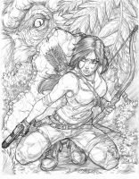 Tomb Raider Pinup by CdubbArt