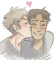 SnK: Kiss ur freckles by Nevheera
