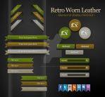 Worn Leather Buttons Banners by SneekDigital
