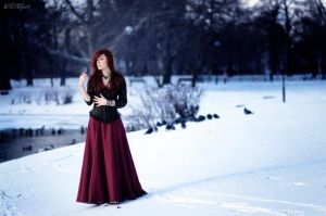 Lady on the snow by Luin-Tinuviel