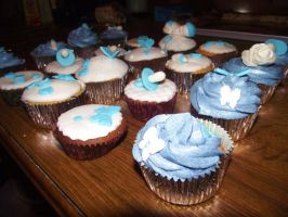Baby Boy Christening Cupcakes by SusansCakery