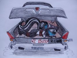 Skunk in the trunk by Levvvar