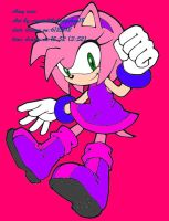 Amy 's new dress color by CrystalTheHedgehog18