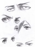 Attack on titan eyes by Jeageractive