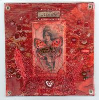 wall hanging panel - red by tisjewel