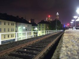 Waiting for the last train... by kine80