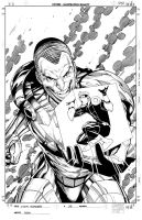Mighty Avengers 33 Cover Inks by Csyeung