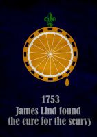 1753 James Lind found the cure for the scurvy by Thothhotep