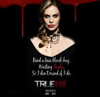 Waiting Sucks, TrueBlood Season 5 Poster by KathleenCasey
