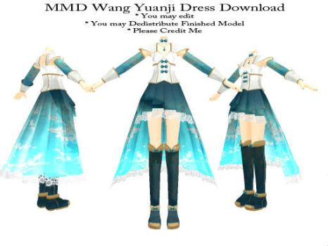 MMD Wang Yuanji Dress Download by SachiShirakawa