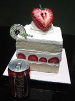 Giant Strawberry Shortcake by Sliceofcake