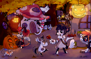 [Prompt] Halloween Decorations by bloodorangepancakes