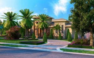 Florida Home Rendering Front by zodevdesign