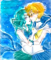 Sailor Neptune and Uranus by Irumi17