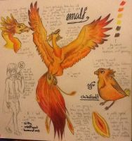 Emalf: descendent of the great Phoenix by TheSilentArtist2225