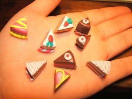 fimo cakes by Jadetiger